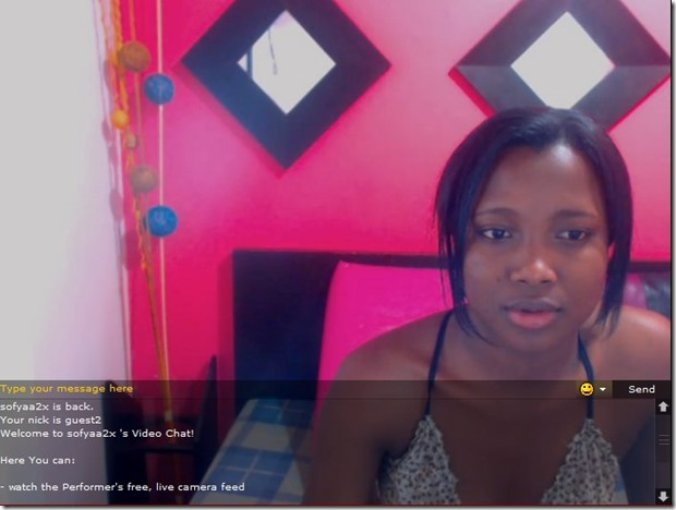 Live webcam stripping shows with hot ebony